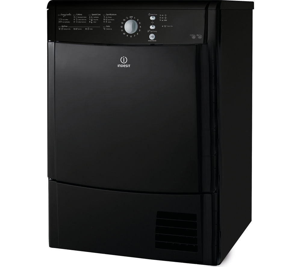 buy indesit ecotime idcl85bhk condenser tumble dryer. Black Bedroom Furniture Sets. Home Design Ideas