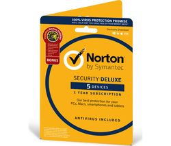 Norton Security Deluxe & Norton Utilities 2018 - 1 year for 5 devices