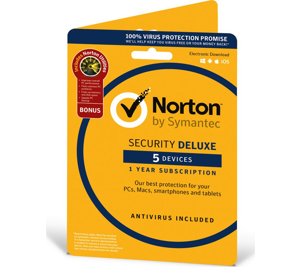 Compare retail prices of Norton Security Deluxe and Norton Utilities 5 Devices to get the best deal online