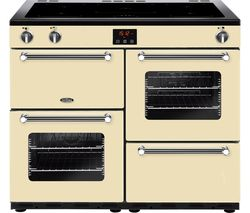 Kensington 100Ei CRM 100 cm Electric Induction Range Cooker - Cream & Chrome