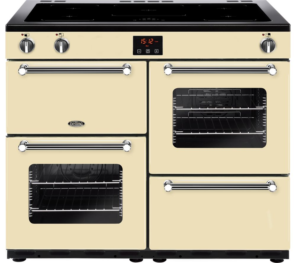 BELLING Kensington 100Ei CRM 100 cm Electric Induction Range Cooker - Cream & Chrome