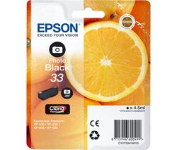 EPSON No. 33 Oranges Black Photo Ink Cartridge
