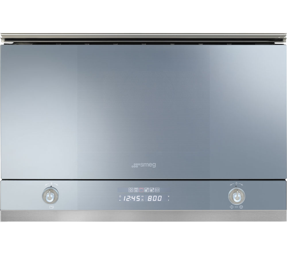 SMEG Linea MP122 Built-in Microwave with Grill - Silver