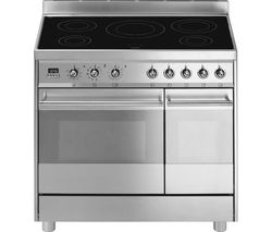 SMEG C92IPX8 90 cm Electric Induction Range Cooker - Stainless Steel
