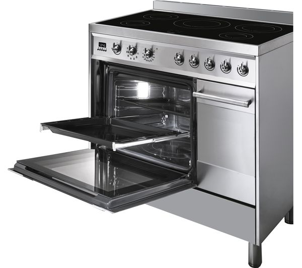 Buy smeg c92ipx8 90 cm electric induction range cooker for Table induction 90 cm