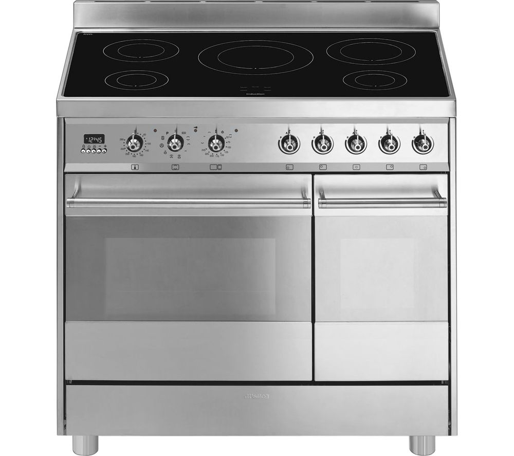 Smeg c921ipxb 90 cm electric induction range bluewater for Table induction 90 cm