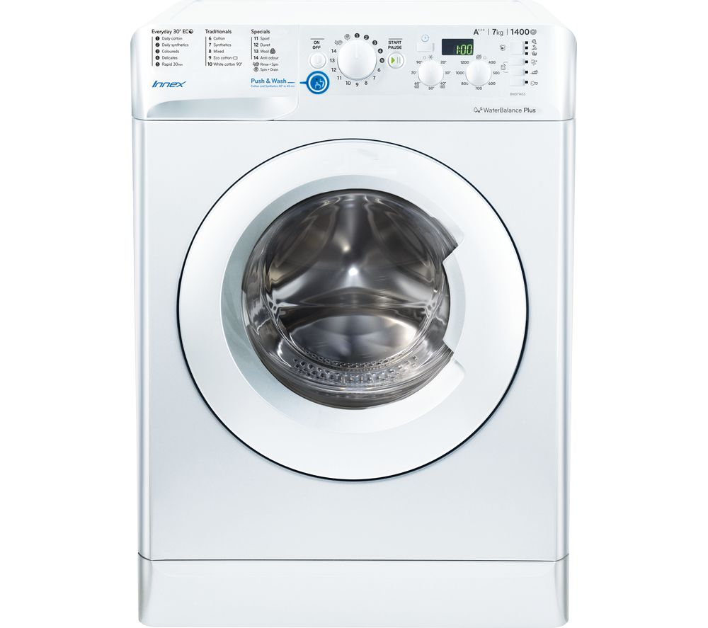 buy indesit innex bwd 71453 w washing machine white free delivery currys. Black Bedroom Furniture Sets. Home Design Ideas