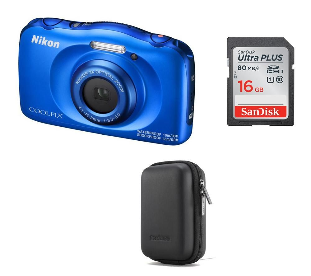 NIKON COOLPIX W100 Tough Compact Camera & Accessories Bundle
