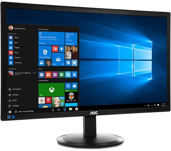 buy aoc e2280swhn full hd 21 5 led monitor black free delivery currys. Black Bedroom Furniture Sets. Home Design Ideas