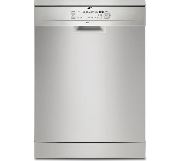 Image of AEG AirDry Technology FFB53600ZM Full-size Dishwasher - Stainless Steel