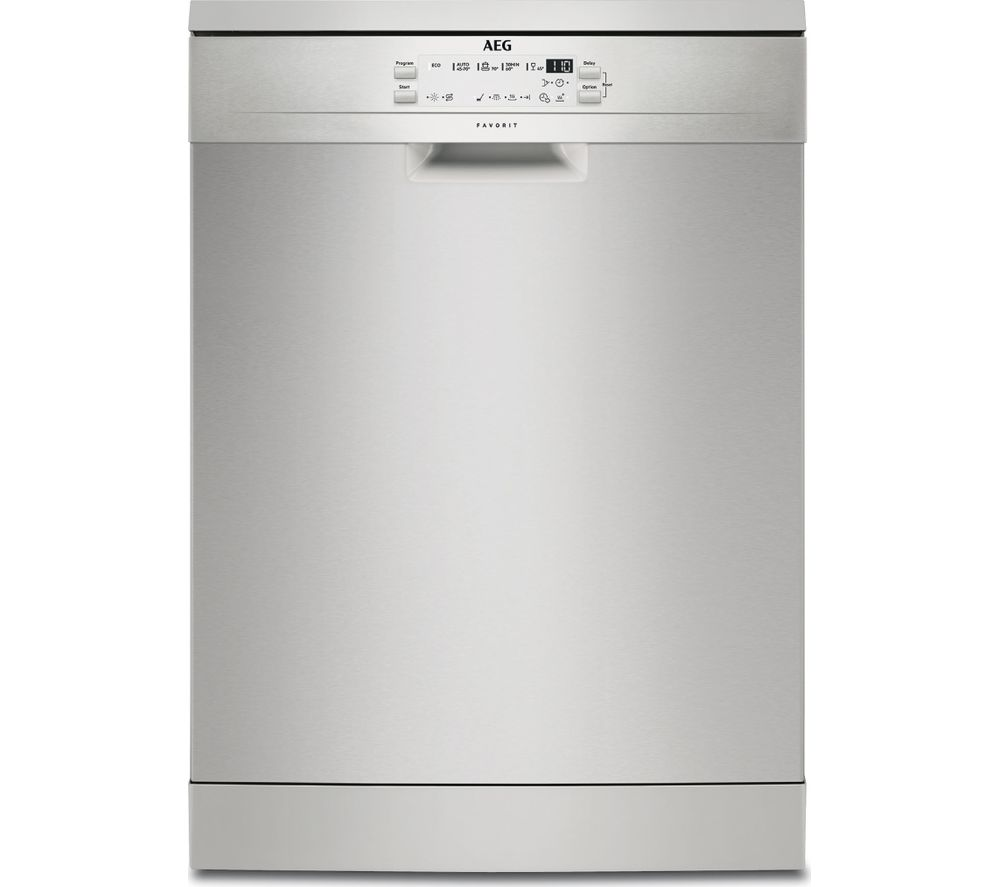 AEG FFB53600ZM Full-size Dishwasher - Stainless Steel