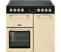 LEISURE Cookmaster CK90C230C 90 cm Electric Ceramic Range Cooker - Cream & Chrome Best Price, Cheapest Prices