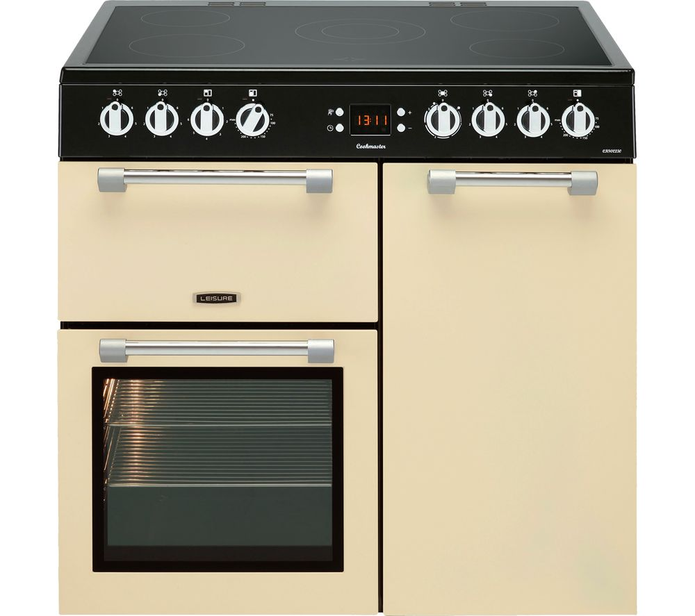 LEISURE Cookmaster CK90C230C 90 cm Electric Ceramic Range Cooker - Cream & Chrome