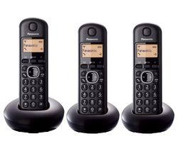 PANASONIC KX-TGB213EB Cordless Phone - Triple Handsets