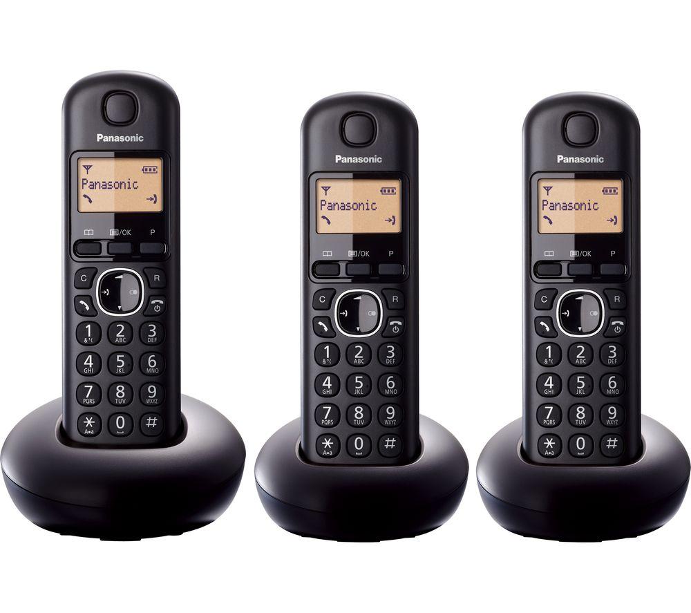 Panasonic Kx Tgb213eb Cordless Phone Triple Handsets
