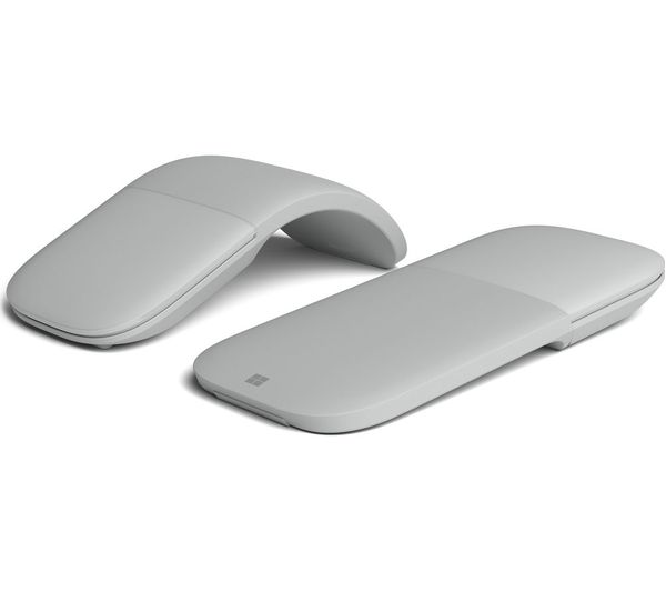 716c7a5b396 MICROSOFT Surface Arc BlueTrack Touch Mouse - Light Grey Deals | PC ...
