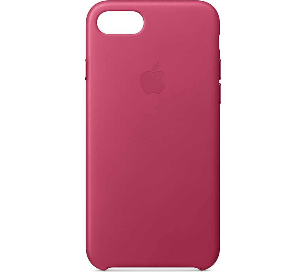 APPLE iPhone 8 & 7 Leather Case - Pink Fuchsia, Pink cheapest retail price