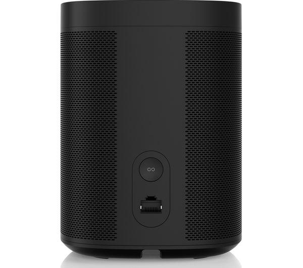 sonos one wireless smart sound speaker black fast delivery currysie. Black Bedroom Furniture Sets. Home Design Ideas