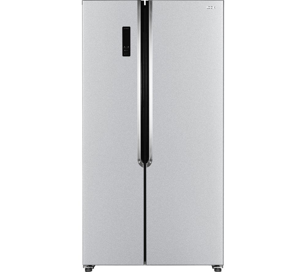 LOGIK American-Style Fridge Freezer - Silver LSSBSS18, Silver
