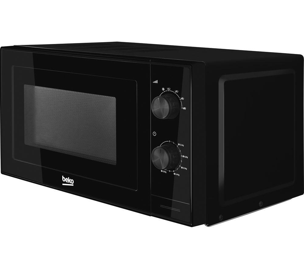 BEKO MOC20100B Compact Solo Microwave - Black, Black