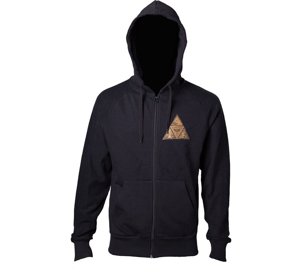 Image of NINTENDO Zelda Golden Triforce Hoodie - Small, Black, Black