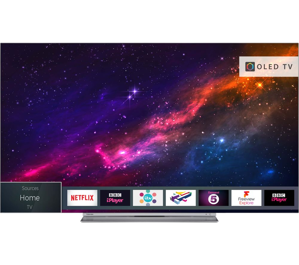 65″  TOSHIBA 65X9863DB Smart 4K Ultra HD HDR OLED TV, Blue