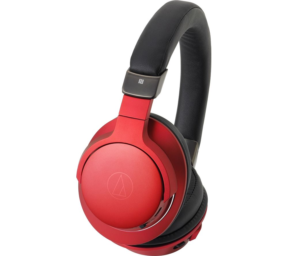 AUDIO TECHNICA ATH-AR5BT Wireless Bluetooth Headphones - Red