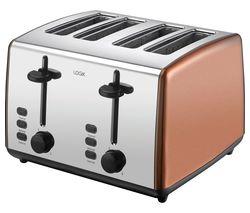 L04TCU19 4-Slice Toaster - Copper & Silver