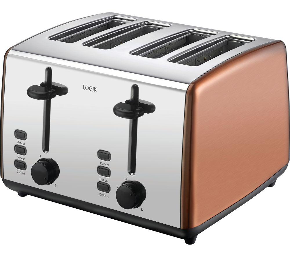 L04TCU19 4-Slice Toaster - Copper & Silver, Silver