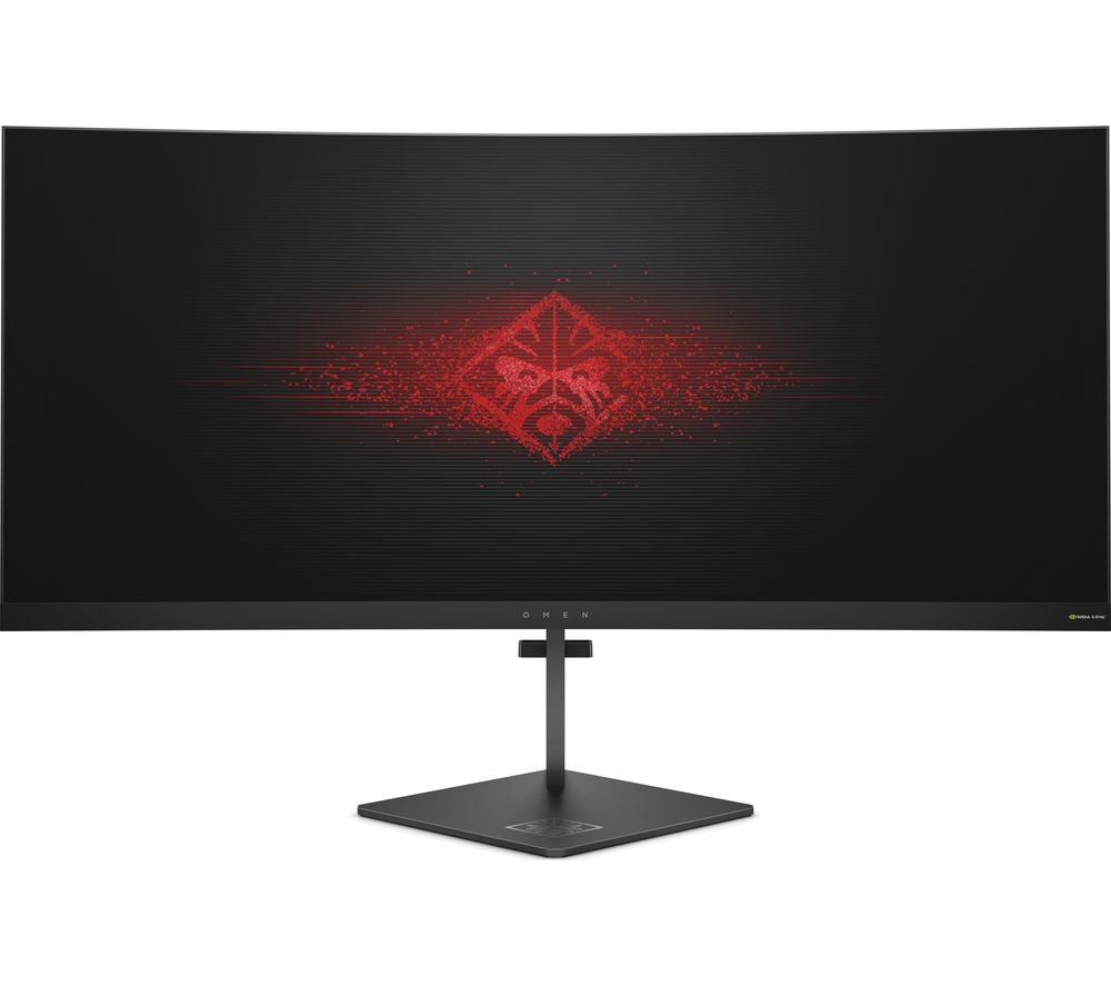 "HP Omen X Quad HD 35"" Curved Gaming Monitor - Black"