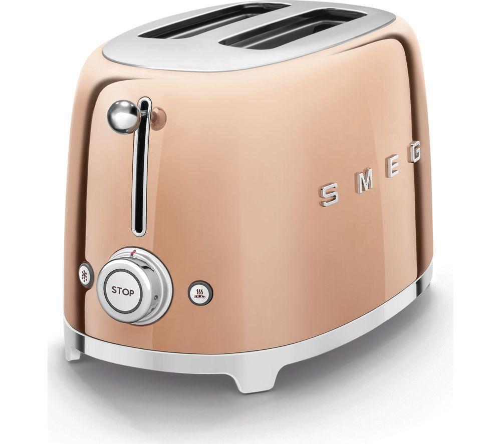 SMEG Special Edition TSF01RGUK 2-Slice Toaster - Rose Gold