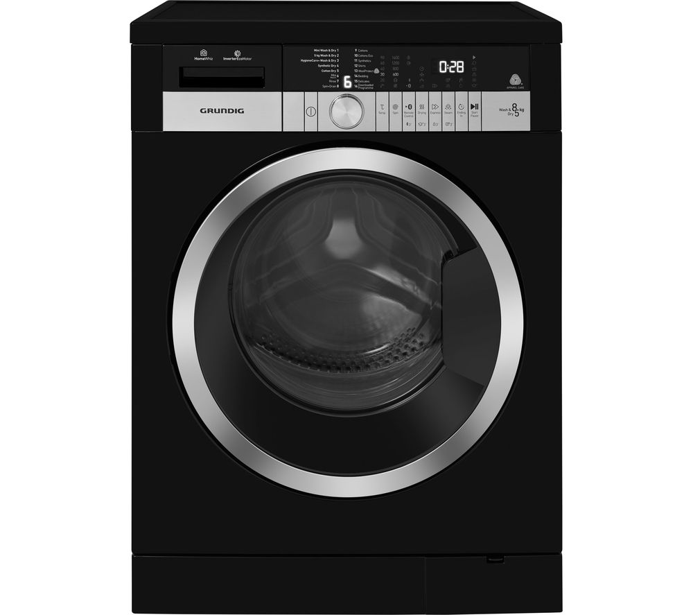 GRUNDIG GWD38400CB Bluetooth 8 kg Washer Dryer - Black