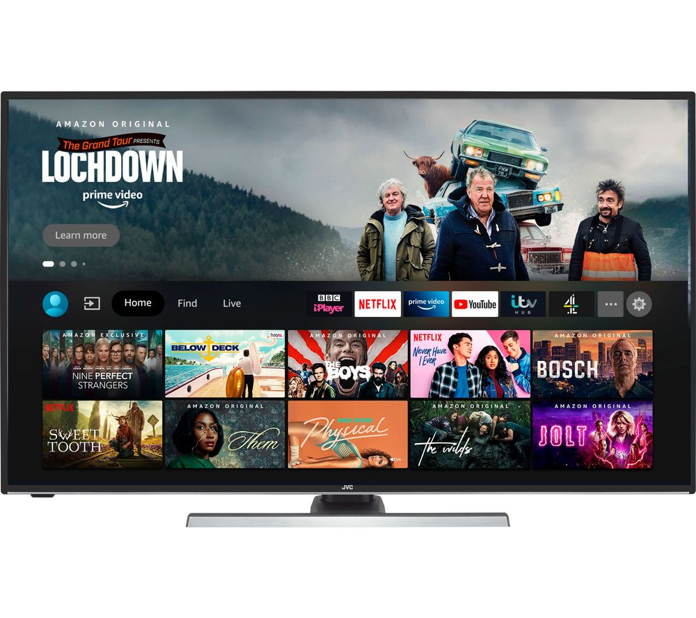 "JVC LT-55CF890 Fire TV Edition 55"" Smart 4K Ultra HD HDR LED TV with Amazon Alexa"