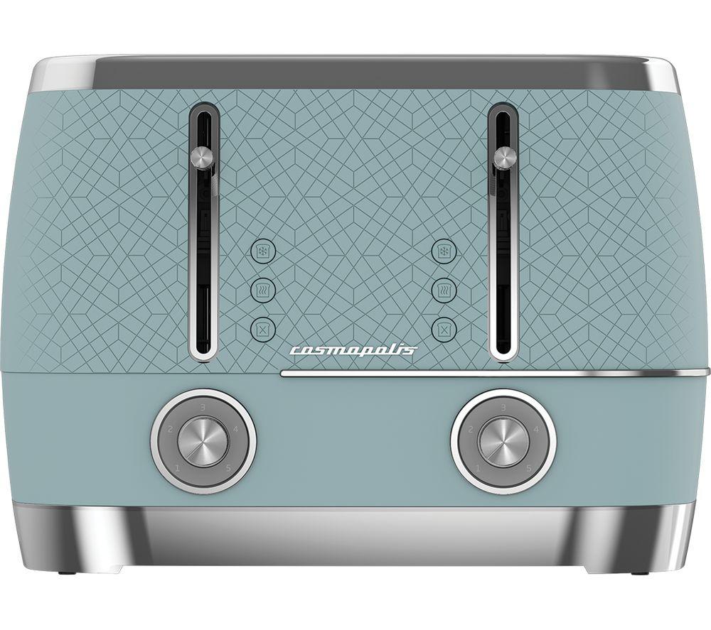 BEKO Cosmopolis TAM8402T 4-Slice Toaster - Blue
