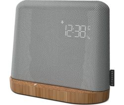 KITSOUND XDock Qi FM Bluetooth Clock Radio - Grey
