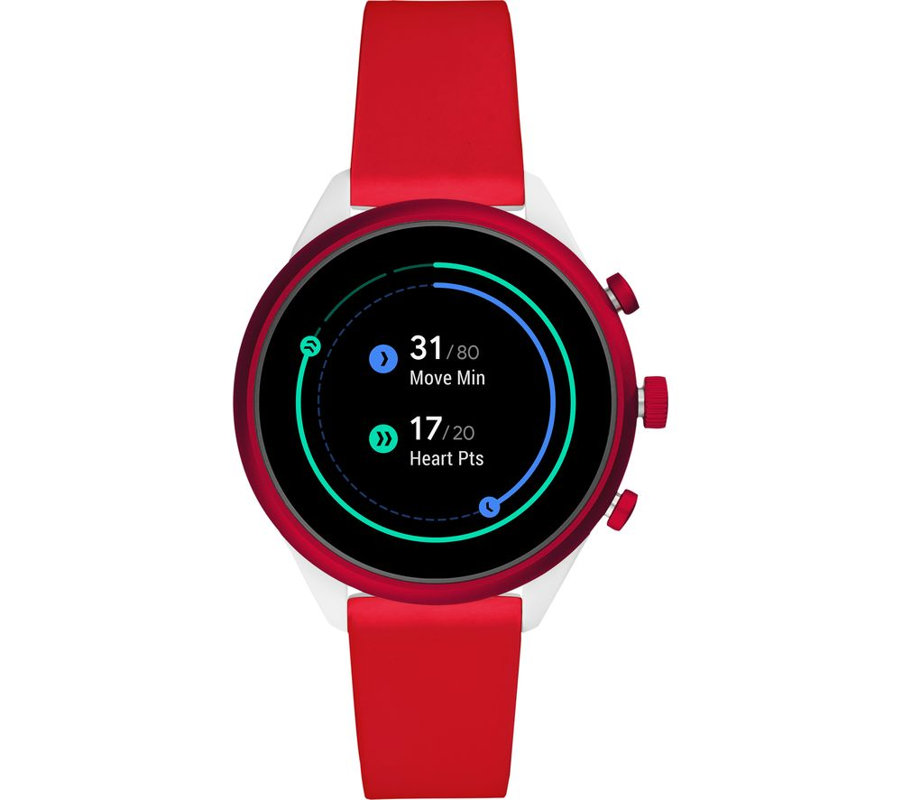 FOSSIL Sport FTW6052 Smartwatch - Red, 41 mm