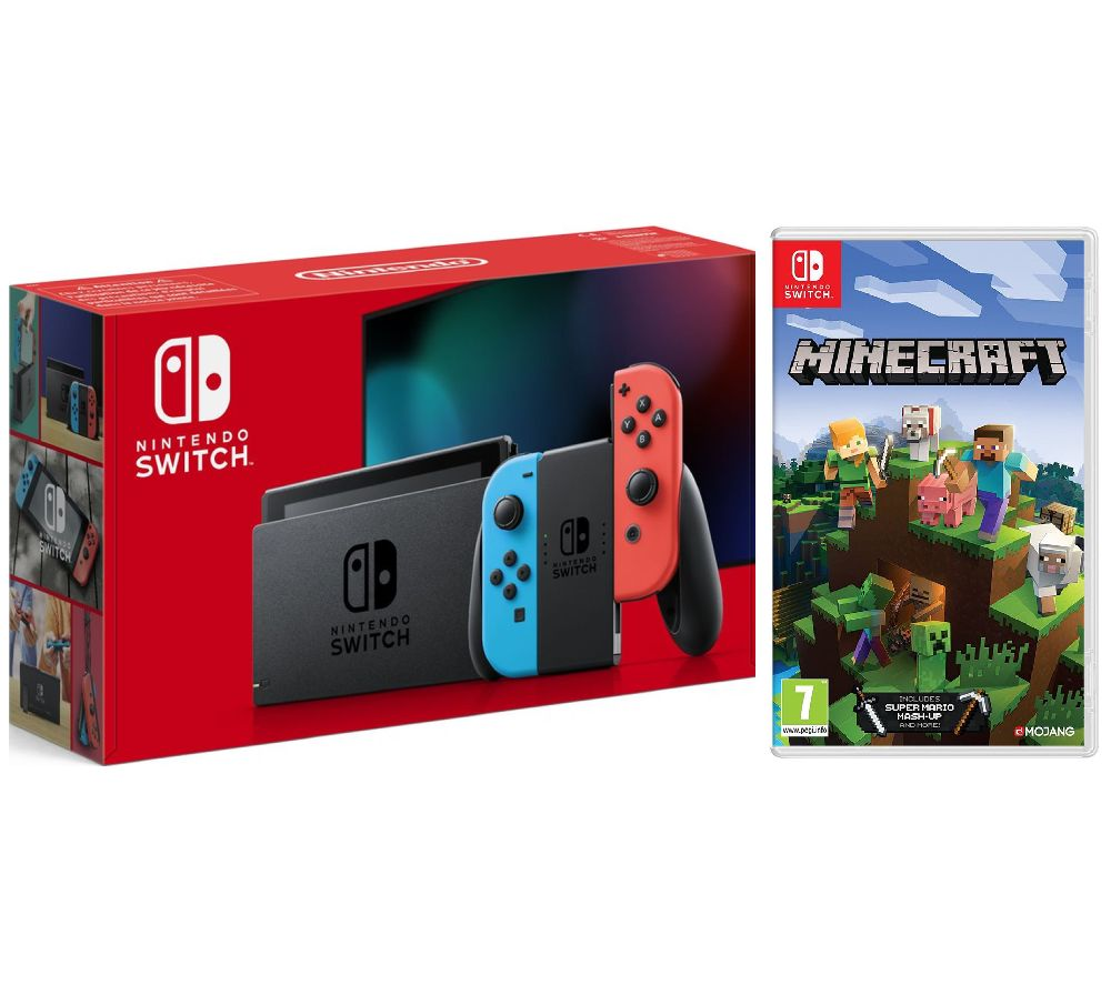 NINTENDO Switch Neon & Minecraft Bundle