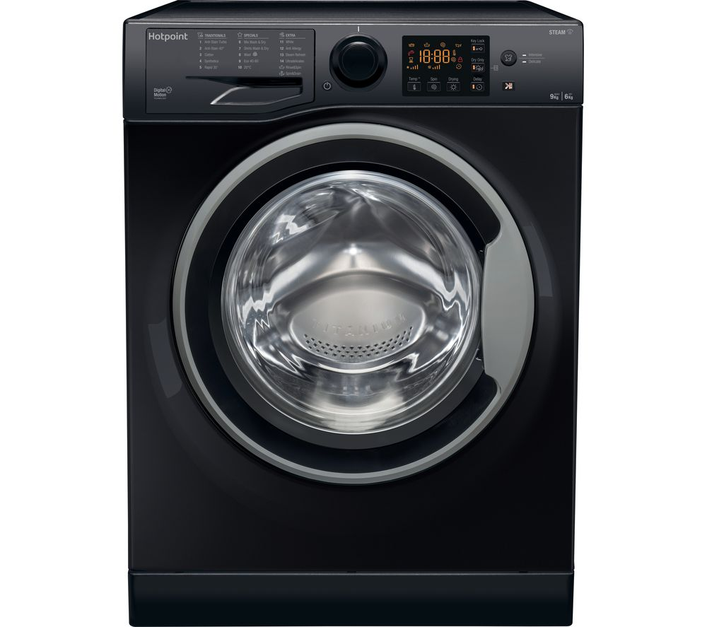 HOTPOINT RDG 9643 KS UK N 9 kg Washer Dryer - Black