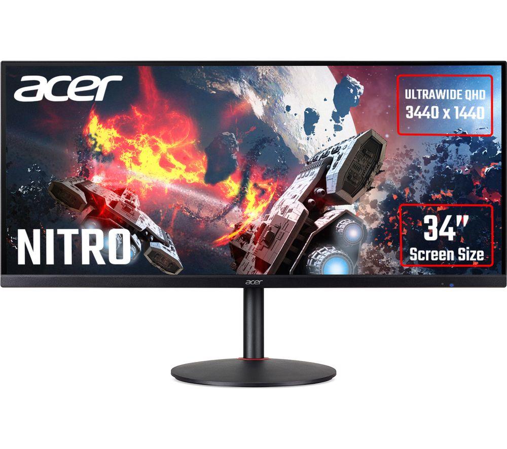 "Image of ACER Nitro XV340CKP Quad HD 34"" IPS LCD Gaming Monitor - Black, Black"