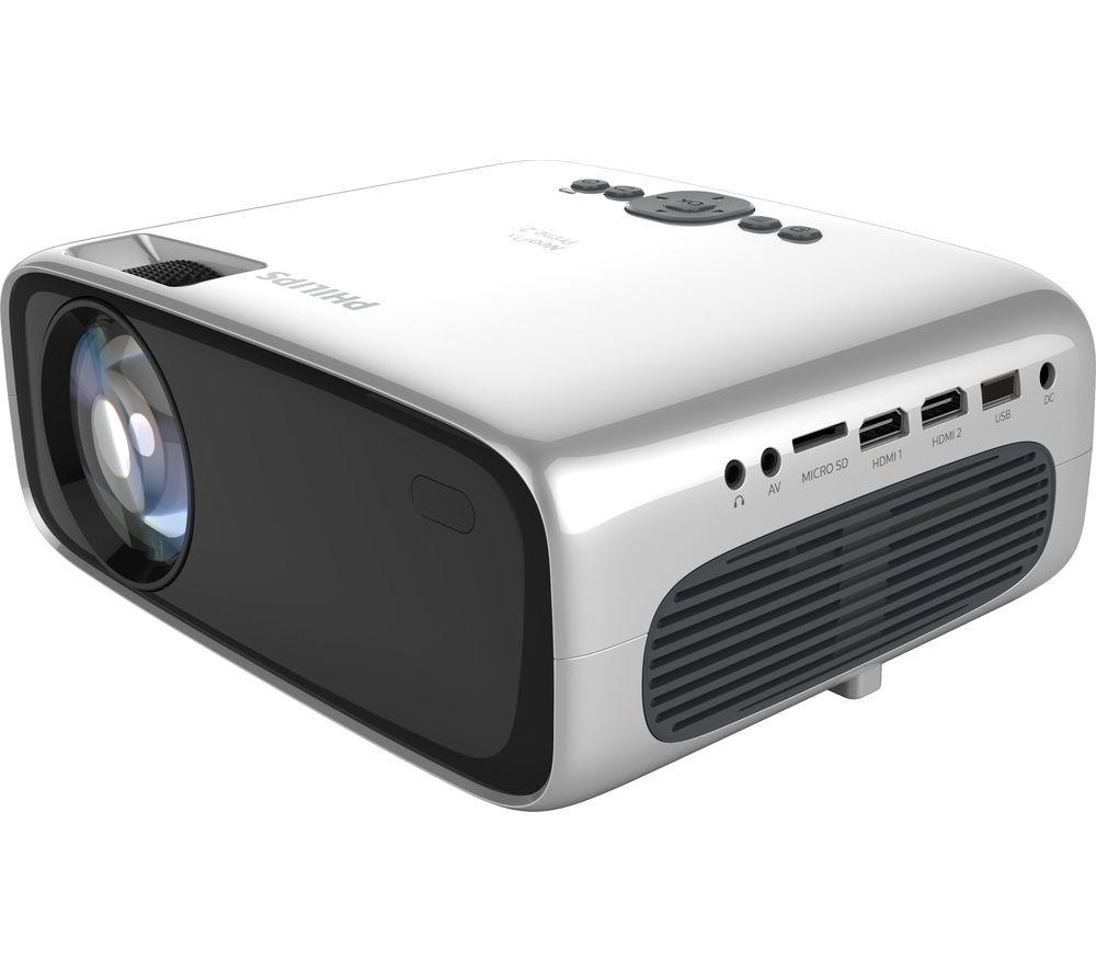 PHILIPS NeoPix Prime 2 NPX542/INT Smart HD Ready Mini Projector - Grey & Silver