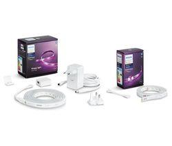 2 m Hue White & Colour Ambiance Smart LED Lightstrip Plus & 1 m Extension Bundle