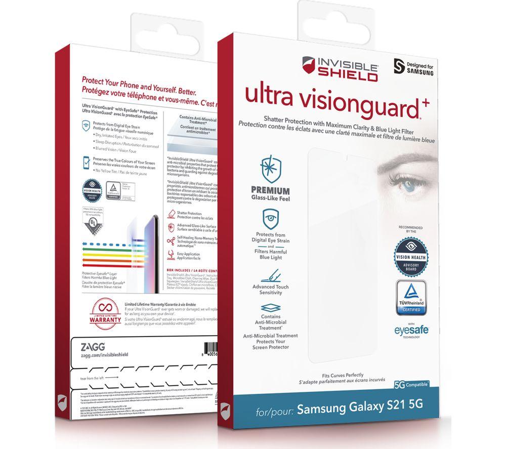 ZAGG InvisibleShield Ultra Visionguard+ Samsung Galaxy S21 Screen Protector