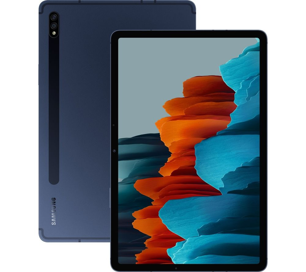 "Image of SAMSUNG Galaxy Tab S7 11"" 4G Tablet - 256 GB, Mystic Navy, Navy"