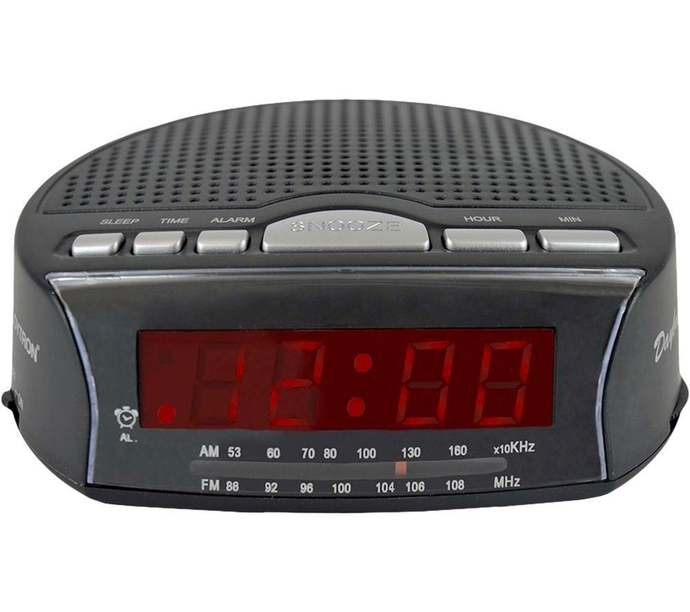 LLOYTRON Daybreak J2006BK Portable FM/AM Clock Radio - Black