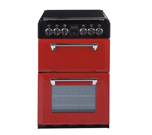 STOVES 550E Mini Range Electric Cooker - Red, Red