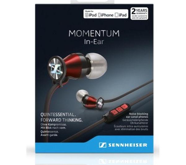 Buy SENNHEISER Momentum 2.0 IEG Headphones - Black   Red  3594afb854