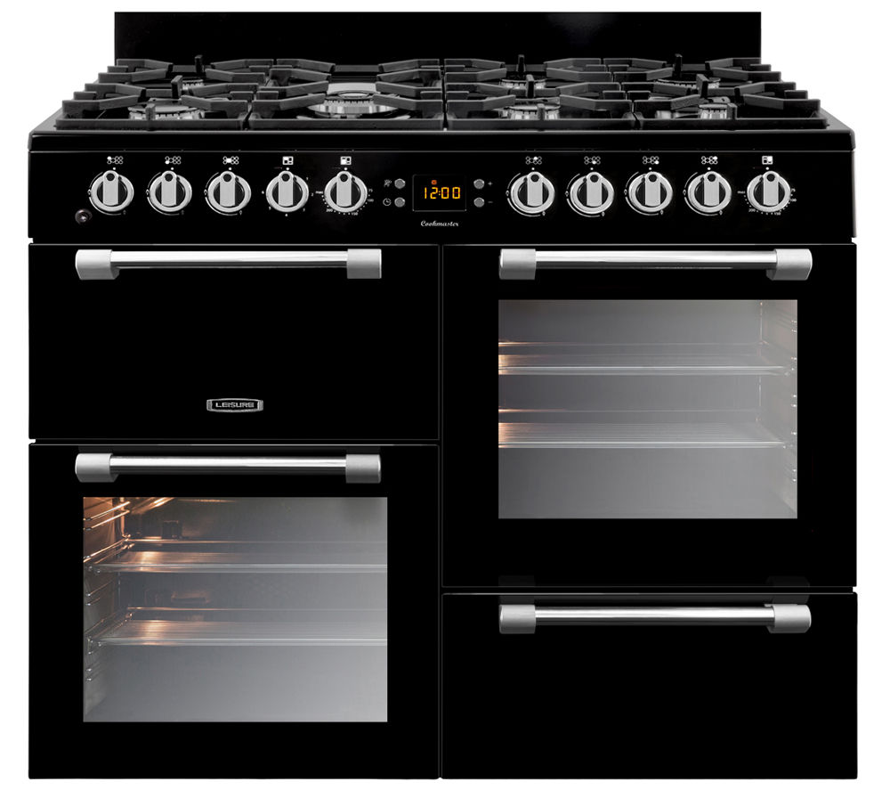 LEISURE Cookmaster 100 Gas Range Cooker - Black, Black