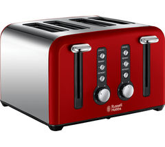 RUSSELL HOBBS Windsor 22831 4-Slice Toaster - Red