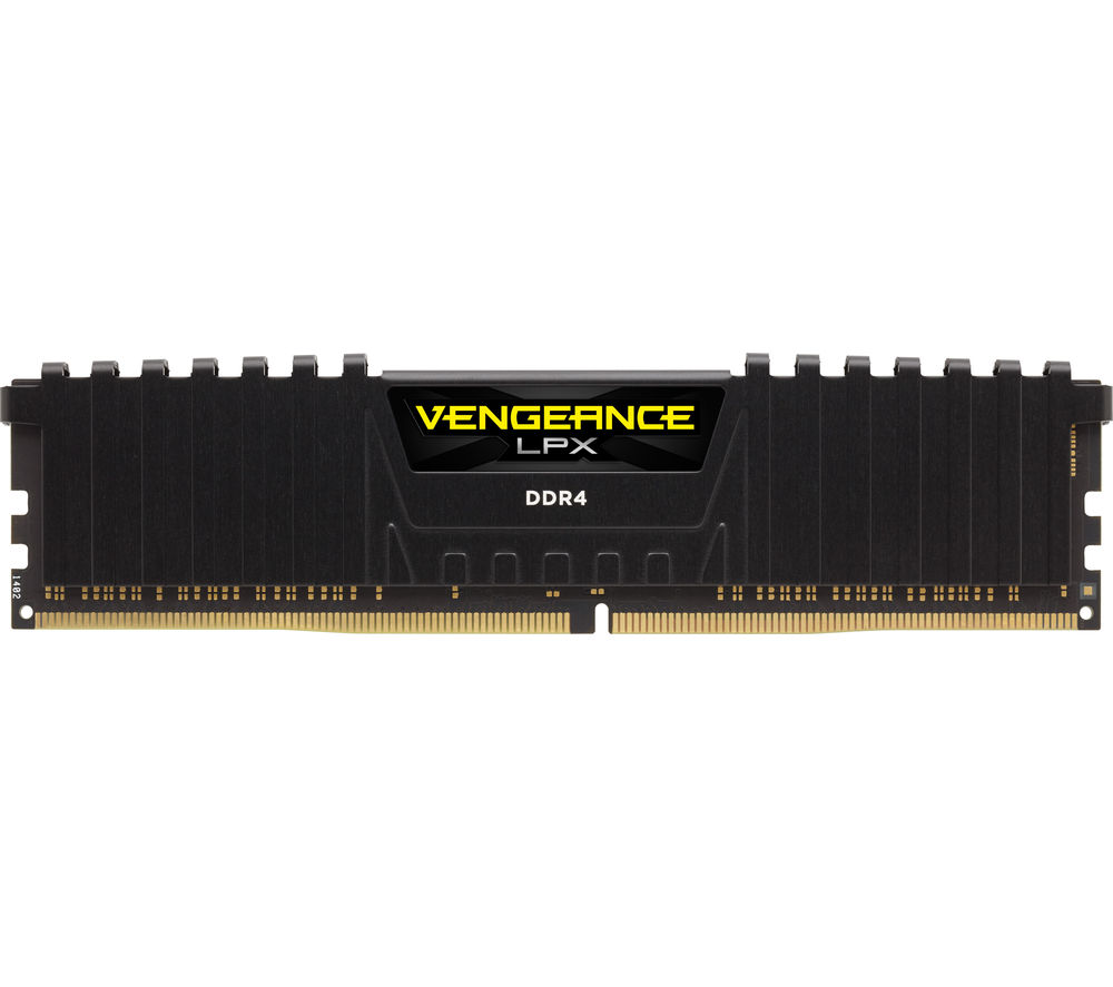 CORSAIR  Vengeance LPX Black DDR4 PC Memory - 2 x 4 GB DIMM RAM, Black