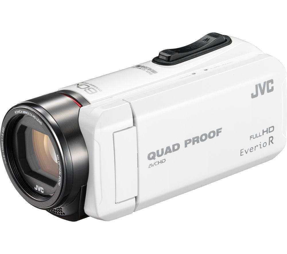 JVC GZ-R415WEK Traditional Camcorder - White